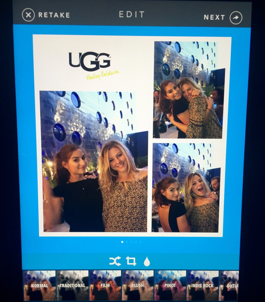 ugg and hailey baldwin event